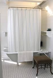 claw foot tub with shelves around katy elliott intended for clawfoot shower curtain rod designs 15