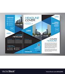 Fold Flyer Brochure 3 Fold Flyer Design A4 Template Vector Image