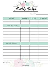 Free Printable Monthly Budget Planner 2019 Financial Planner Free Printable Simply Stacie