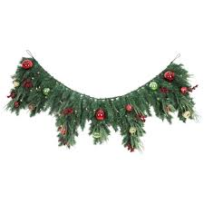 Home Depot Lighted Garland Home Accents Holiday 6 Ft Led Pre Lit Jolly Artificial