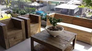 pallet wood made balcony furniture balcony furniture