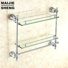 small glass shelf bathroom showers glass shower shelves chrome crystal bathroom shower glass shelf bath shower