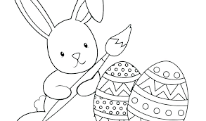 Egg Coloring Pages Free Printable New Bunny To Print Colour Easter