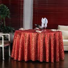 round table linens new luxury crocheted gold leaf red cloth for hotel restaurant decor rectangle washable