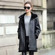 luxury real sheepskin shearling coat for women genuine leather shearling jacket merino sheepskin motor coat dx0008leather jackets for women for 300 dollar