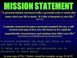sample personal mission statement