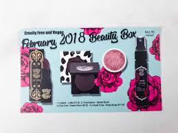 this box includes 4 vegan beauty s the information card contains the list of all the items