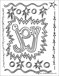 Small Picture Coloring Page Joy The Peaceful Mom