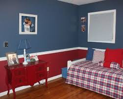 Awesome Grey Red Wood Modern Design Boys Bedroom Kids Blue Themed .