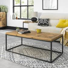 indus rustic oak coffee table