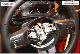 safety recall s33 nhtsa 16v 290 airbag clockspring interim repair install new steering wheel retaining bolt