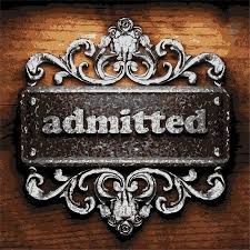 Image result for admitted word