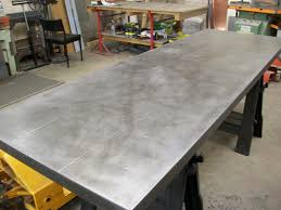 images zinc table top:   zinc table top light patina mock rivets by metal sheets limited