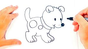 Small Picture How to draw a Puppy for kids Puppy Drawing Lesson Step by Step