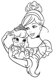 Cenerentola A Belle Del Libro Da Colorare Disney Princess Palace