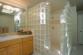 walk in door less glass block shower walls constructed with 8 x8