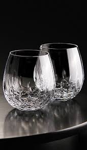 lenox stemless red wine glasses waterford lismore nouveau