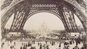 Image result for by the Eiffel Tower in 1889.
