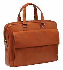 mancini colombian slim leather laptop briefcase cognac