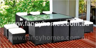 outdoor table and chairs sydney. stella - space saver wicker outdoor 10 seater dining set table and chairs sydney u