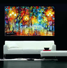 feng shui art for office. Terrific Beautiful Paintings Artwork Late Night In Park Landscape Palette Knife Oil Painting Home Office Cafe Decoration Modern Feng Shui Art For U