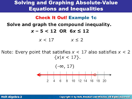 solving and graphing absolute value equations and inequalities