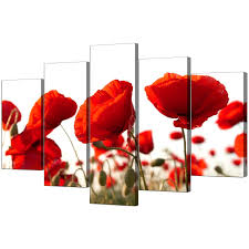 large poppy wall art