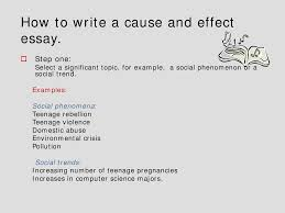 cause and effect essay english language lecture slides docsity this is only a preview