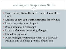 reading and responding essays night ppt video online  2 reading and responding skills