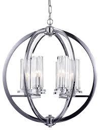 pasadena 6 light globe chandelier chrome