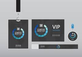 Id Cards Template Vip Pass Id Card Template Realistic Blank Vertical Id With Black