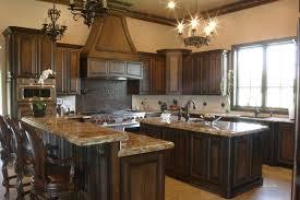 Dark Stained Kitchen Cabinets