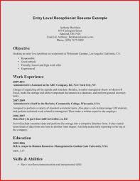 objective on resume for receptionist receptionist resume objective statement lovely best receptionist