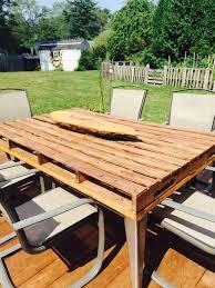 diy pallet outdoor dinning table. DIY Outdoor Pallet Patio Table Furniture Diy Pallet Outdoor Dinning Table T