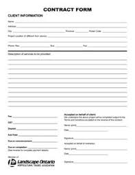 Free Landscaping Contract Forms Under Fontanacountryinn Com