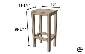 Simple DIY Stool Plans  Dimensions Build Your Own Bar Stools E18