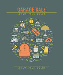 Garage Sale Flyers Free Templates A Display Articles That Are For Sale At A Garage Sale Royalty Garage