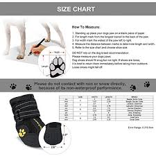 Petacc Dog Boots Water Resistant Dog Shoes For Large Dogs And Black Labrador 4 Pcs In Size 6 Black