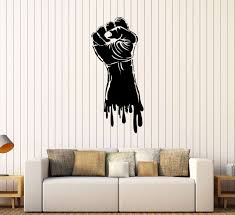 wall decor stickers for bedroom elegant vinyl wall decal fist hand strength power gym stickers mural on vinyl wall art stickers durban with 32 inspirational vinyl wall decor wall decor ideas decorations