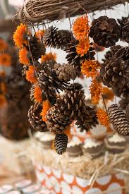 Pinecones are such a great fall staple in crafts and decorating, yet I  don't recall EVER seeing them paired with mums before! Why not?