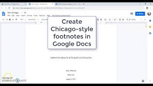 Chicago Manual Of Style Citation General Advantage And Footnotes