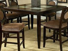 round counter height table and chairs dark wood round counter height kitchen table and 4 ed