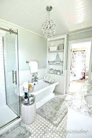 chandelier over tub lovely bathtub or ergonomic soaking master bathroom with hang tubular linear