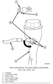 jeep liberty pcv valve 3 7l v 6 engine pipe