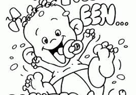 Kleurplaat Geboorte Baby Ideeën Baby Geboren Kleurplaat
