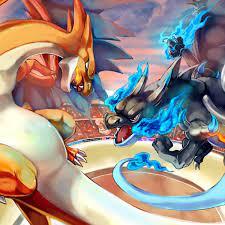 Download 3000x3000 Pokemon, Charizard Vs Charizard X Wallpapers -  WallpaperMaiden | Pokemon, Pokemon charizard, Cool pokemon wallpapers