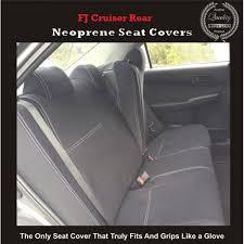 seat covers rear suitable for toyota fj cruiser series gsj15r premium neoprene automotive grade 100 waterproof
