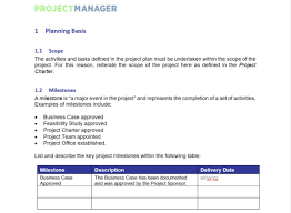 Sample Project Plan Outline Project Plan Template For Word Free Download