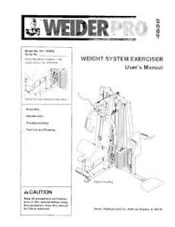 Weider Pro 4850 Exercise Chart 831 153932 Weider Pro 4850 Weight System Exerciser