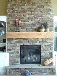 natural gas fireplace mantel painted brick wood